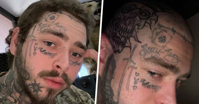 Post Malone Shaves Head For New Skull Tattoo