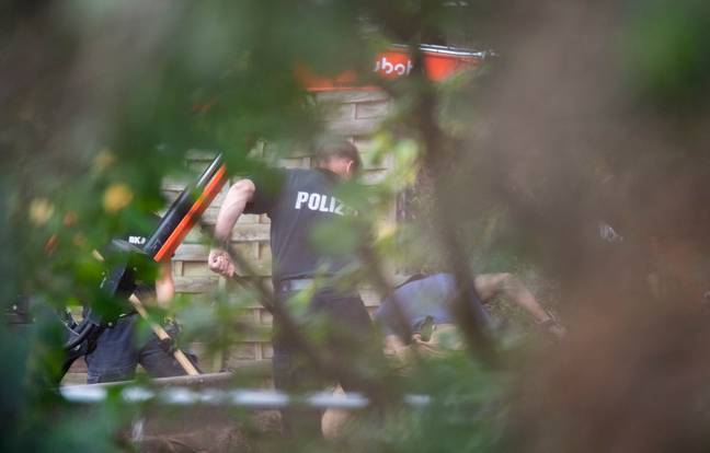 Police searching allotment