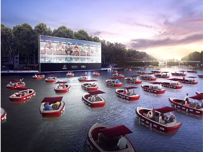 Cinema on the water in France