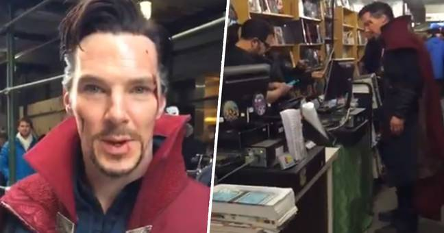 Benedict Cumberbatch Surprises New York Comic Book Store Dressed As Doctor Strange
