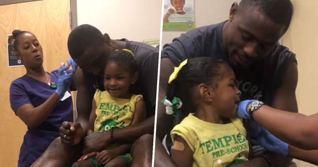 New Orleans Dad Pretends To Get Vaccinated So His Daughter Is Less Scared Of Needles