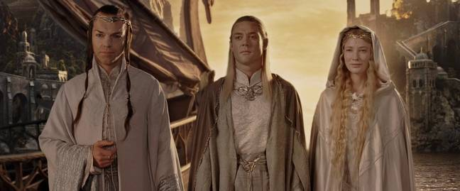 Galadriel Elrond Lord of the Rings