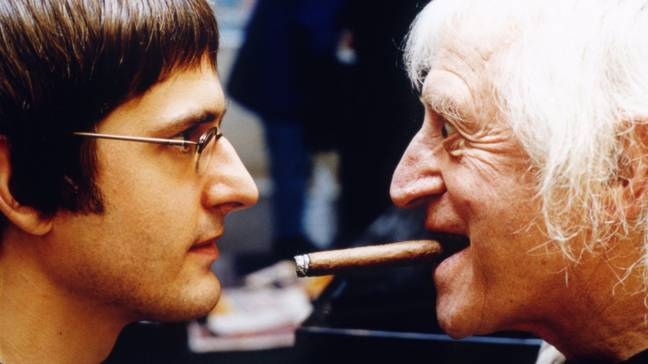 Louis Theroux and Jimmy Savile. (BBC)