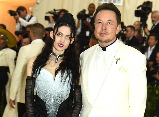 Grimes and Elon Musk (PA Images)