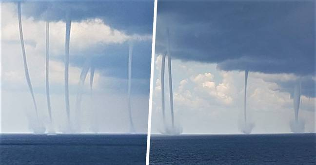 Mesmerising Footage Shows Six Waterspouts In The Gulf Of Mexico