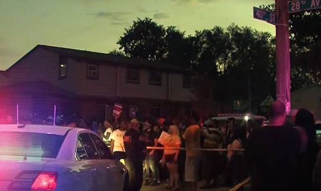 White Police Officer Shoots Unarmed Black Man Seven Times In Front Of His Kids