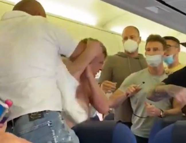 Fight breaks out after men refuse to wear face masks