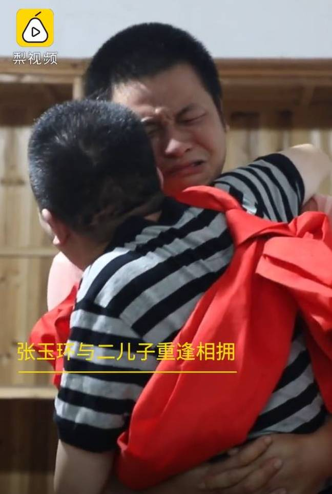 man reunites with son after conviction overturned