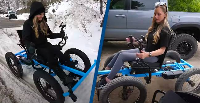 Guy Designs Off-Road Wheelchair For His Wife So She Can Go On Adventures