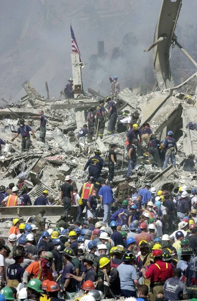 9/11 rescue workers (PA Images)