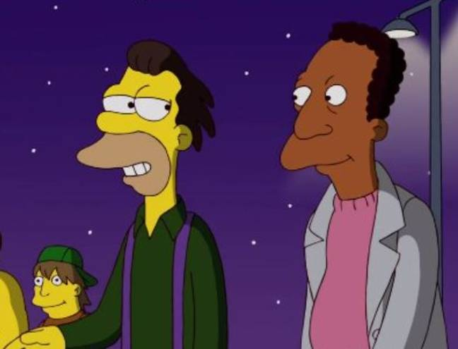 Lenny and Carl in The Simpsons