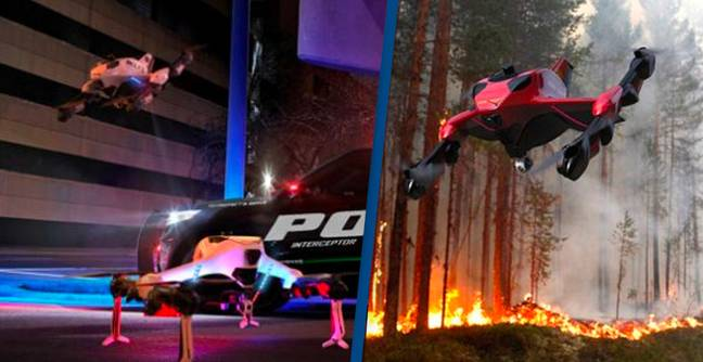 New 140mph First Responder Drone Can Recharge Itself In Flight