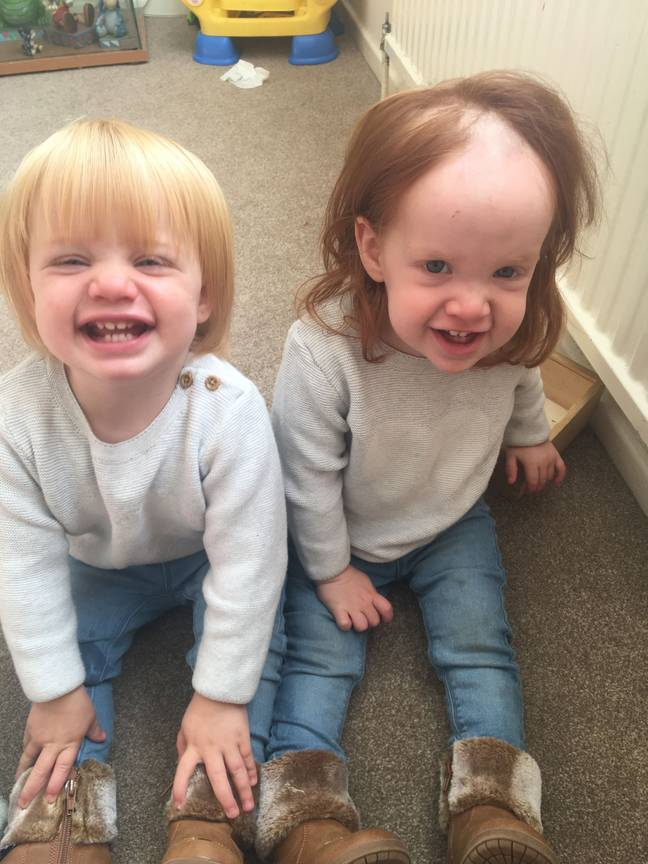 Maisie and twin sister
