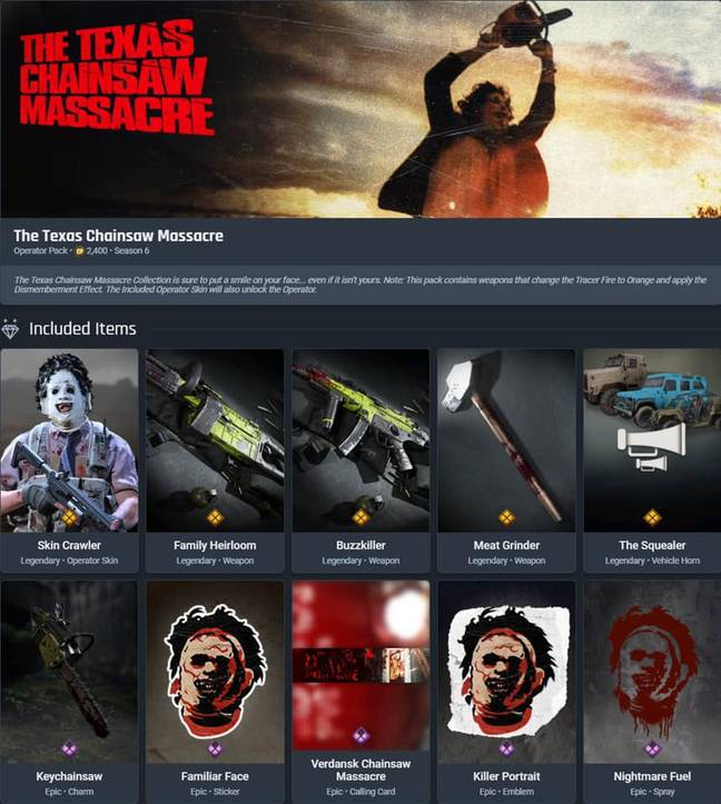 texas chainsaw operator pack Warzone