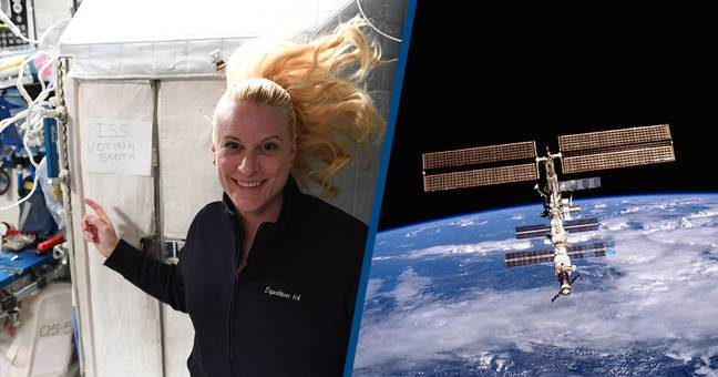 US Astronaut Votes From International Space Station