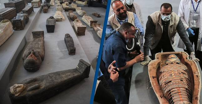 Egypt Unveils Further 100 Ancient Coffins Buried More Than 2,500 Years Ago