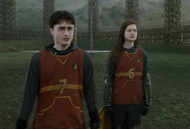 Harry wearing number 7 of Quidditch top