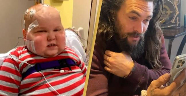 Jason Momoa Surprises Aquaman Superfan With Brain Cancer With Video Call