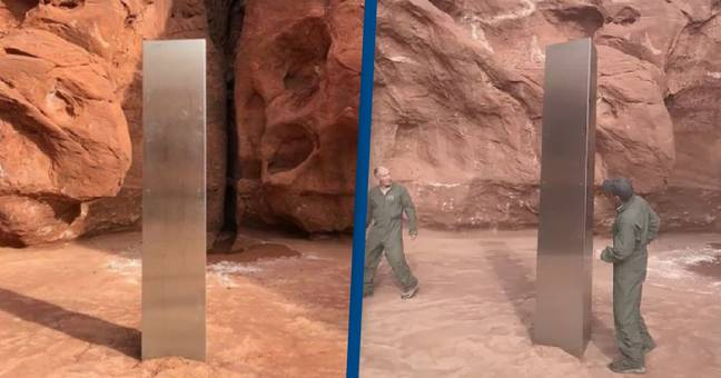 Helicopter Crew Discovers Giant Metal Monolith In Remote Desert