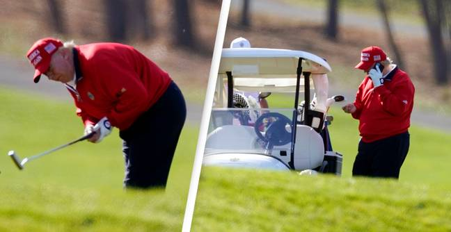 Donald Trump Screams 'I Hate This F*cking Hole' While Playing Golf