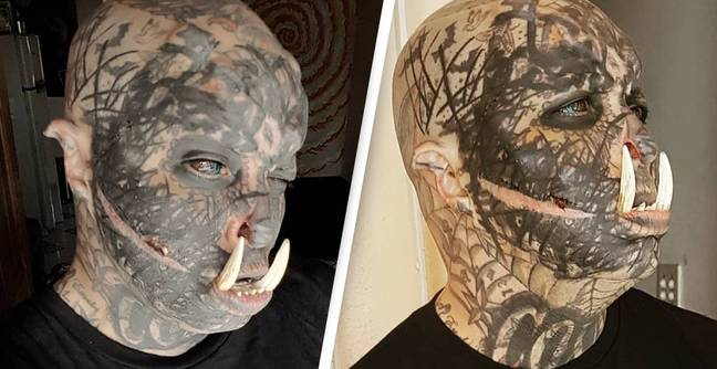 Man Obsessed With Body Modification Gets Tusks Fitted To His Own Teeth
