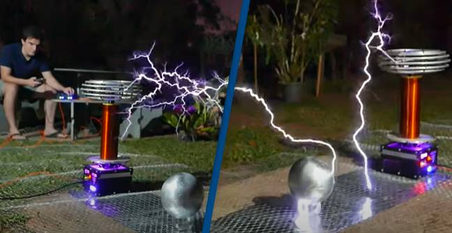 YouTuber Plays Toto's Africa on a High-Voltage Tesla Coil