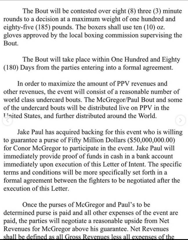 Jake Paul McGregor contract