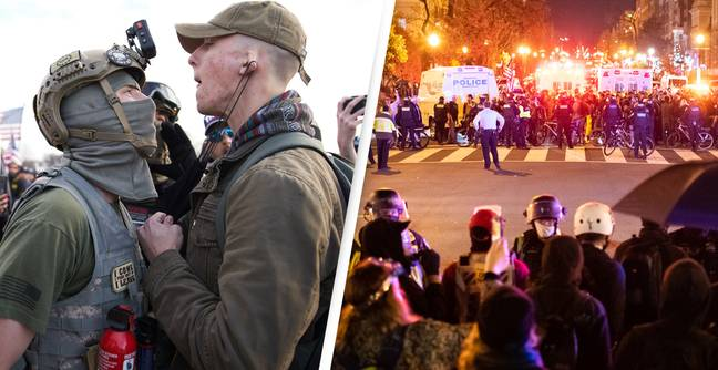 Violence Erupts At Trump Rally As Proud Boys Clash With Counter-Protesters