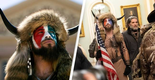 Capitol Rioter In Horned Hat Arrested And Charged