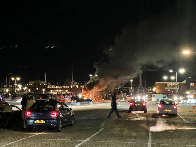 Fire at covid testing centre in the Netherlands