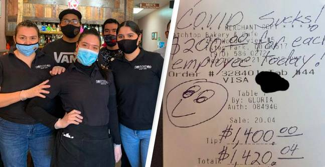 Guy Leaves Every Worker At Cafe $200 Tip Because 'Covid Sucks'