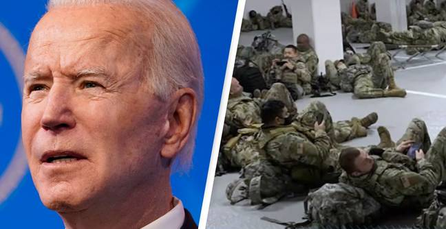 Biden Apologises To National Guard Chief After 5,000 Soldiers Reportedly Slept In Parking Garage