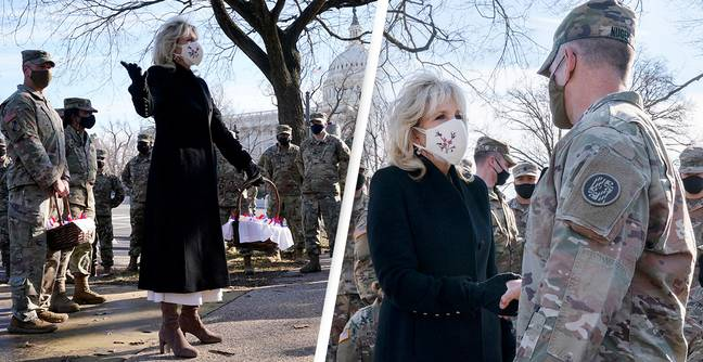 Jill Biden Delivered Cookies To National Guard Troops During Surprise Visit To US Capitol