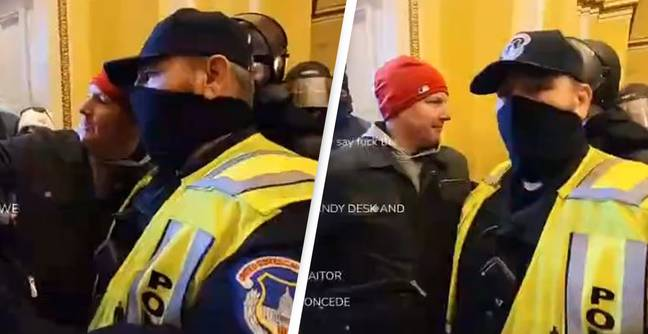 Police Officer Who Took Selfies With Rioters Inside Capitol Building Suspended