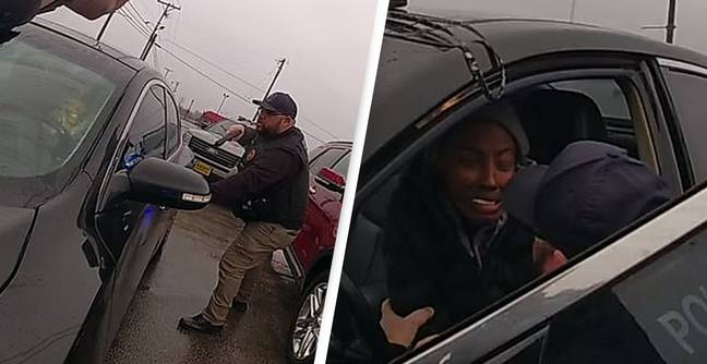 Wild Police Chase Ends With Cop Hugging Terrified Driver Even After He Drew Gun
