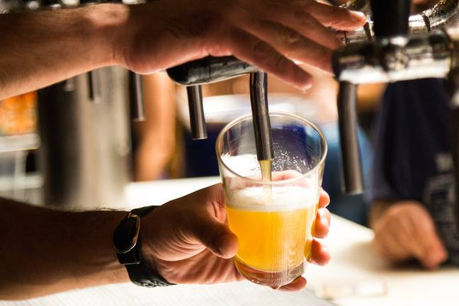 Person pouring pint (Pixabay)