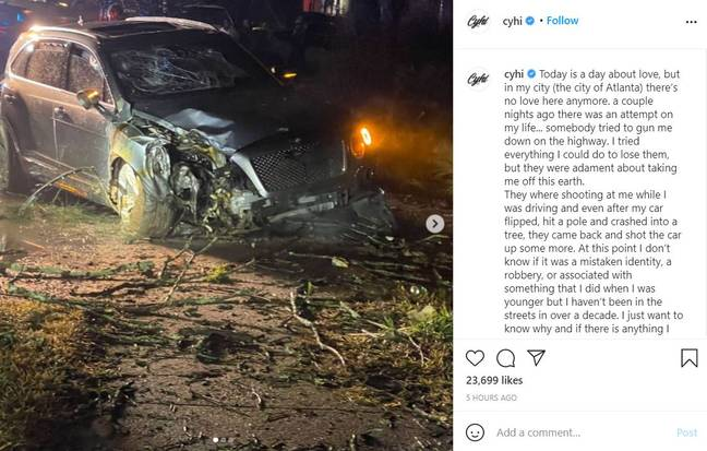 Rapper Cyhi says someone tried to assassinate him