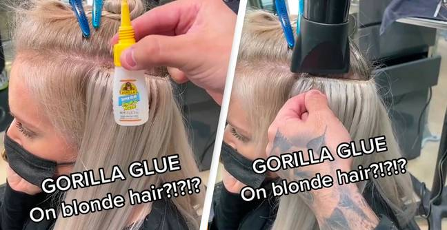 People Horrified After Hairdresser Admits To Using Gorilla Glue For Extensions