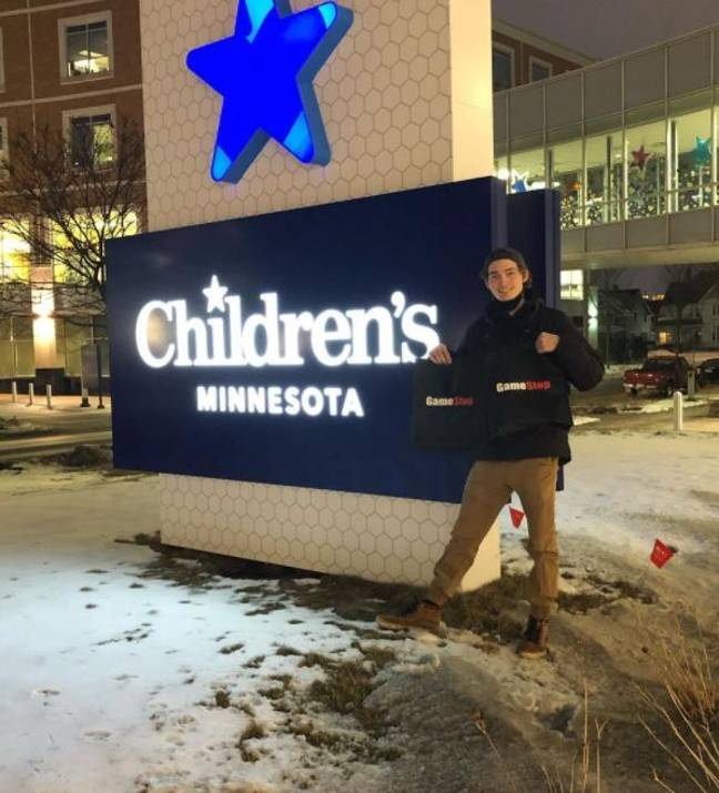 Student donates to children's hospital after cashing out GameStop shares
