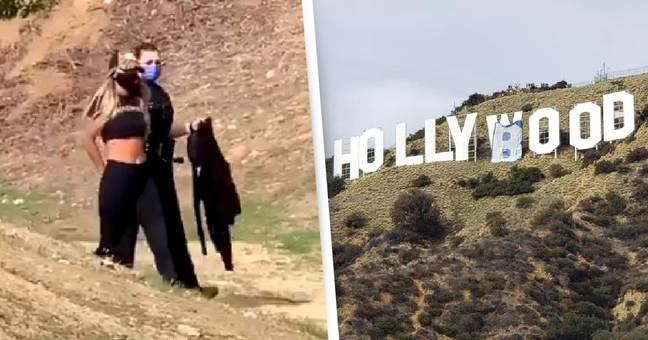 Six Influencers Arrested For Changing Hollywood Sign To Hollyboob