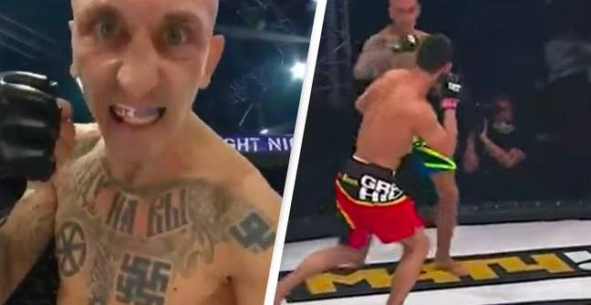 MMA Fighter Covered In Nazi Tattoos Beaten In First Round After Just Three Minutes