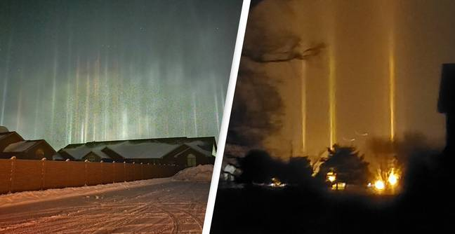Mysterious Columns Of Light Spotted Shining Bright Across Northern US Night Sky
