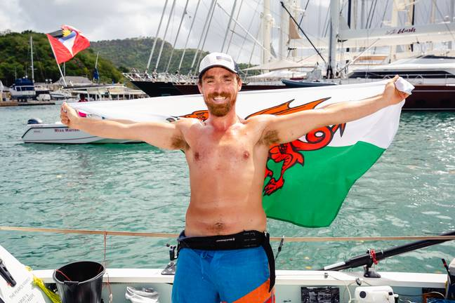 Gareth with Welsh flag