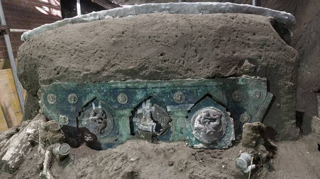 'Extraordinary' 2000-Year-Old Ceremonial Chariot Unearthed In Pompeii
