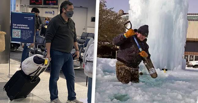 Ted Cruz Slammed For Going On Vacation While Texas Freezes In Fatal Cold Snap
