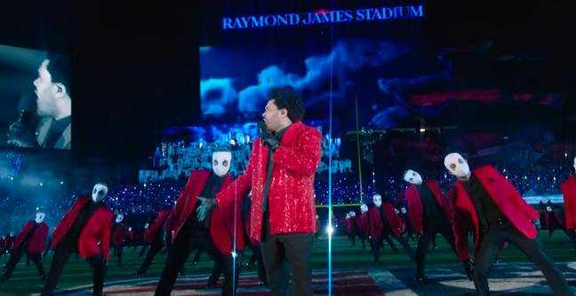 The Weeknd's Super Bowl Halftime Show Featured An Army Of Freaky Bandaged Dancers