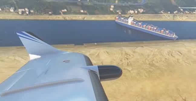 Cargo Ship That Was Stuck In Suez Canal Added To Microsoft Flight Simulator