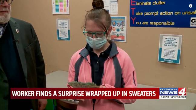 Charity Shop Worker Finds $42,000 In Donated Sweaters
