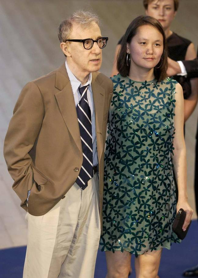 Woody Allen and wife