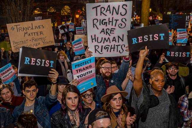 Protest for trans rights (PA Images)